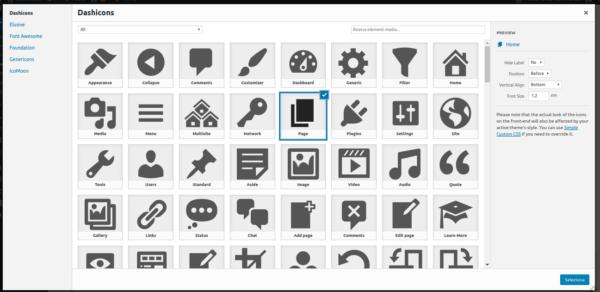 Menu Icons_wordpress-aggiungere icone al menu
