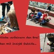 drei Bilder vom Outdoor-Kochen mit der KJZ Mainz-Stadt