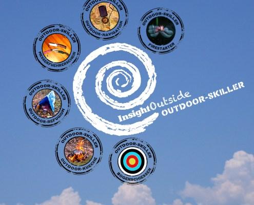 Outdoor-Skiller Logo mit allen Stempeln