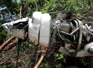 A drug plane in Honduras