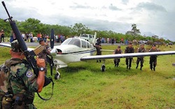 A seized drug plane in Honduras
