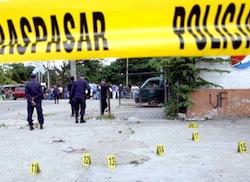 A murder scene in Honduras