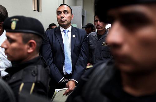 Byron Lima in court. by Carlos Sebastián/Nomada