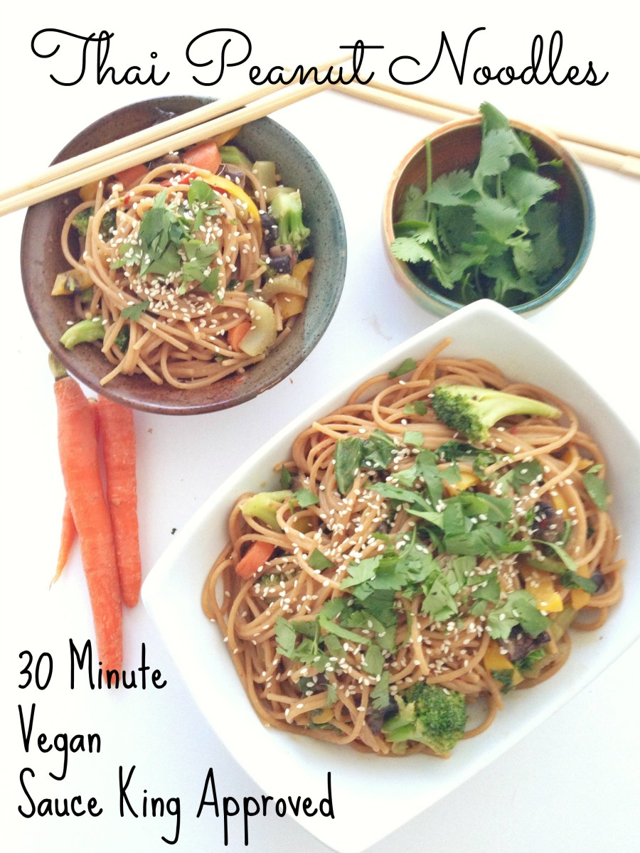 30 Minute Thai Peanut Noodles (Vegan)