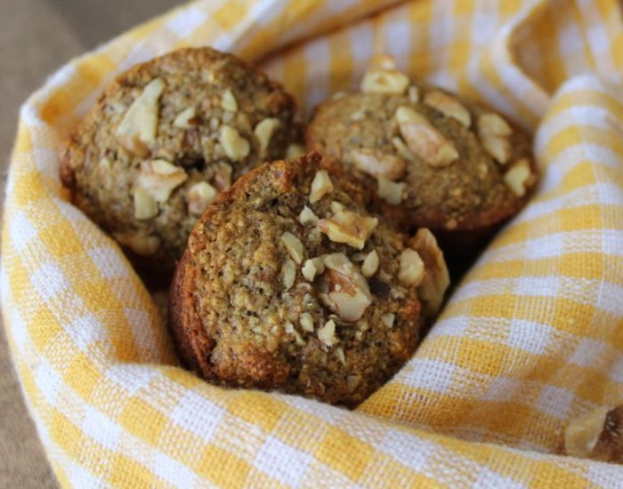 Whole Wheat Banana Oat Muffins that are naturally sweetened