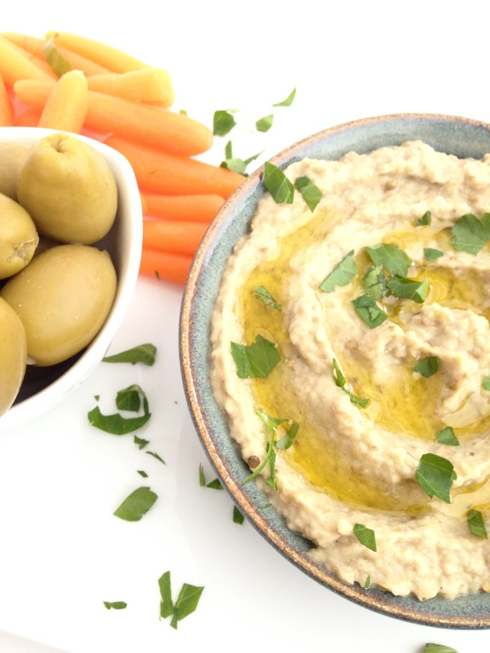 simple easy baba gnash eggplant dip