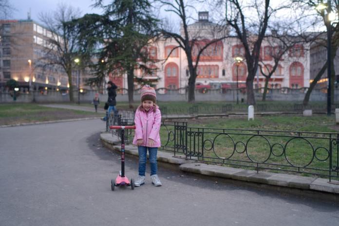 Studentski park shy child