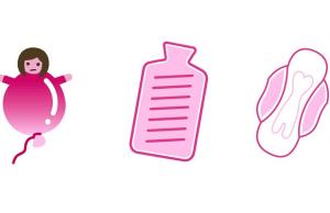 La marca Bodyform propone estos emojis para terminar con el tabú del período femenino.