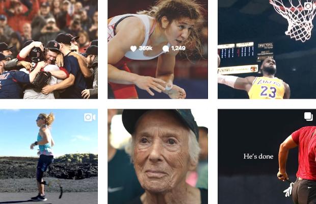 Destacado Nike serie IGTV con atletas cotidianos