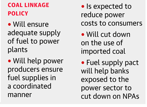 coal linkage policy