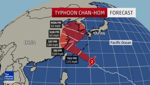Typhoon-Chan-hom-forecast