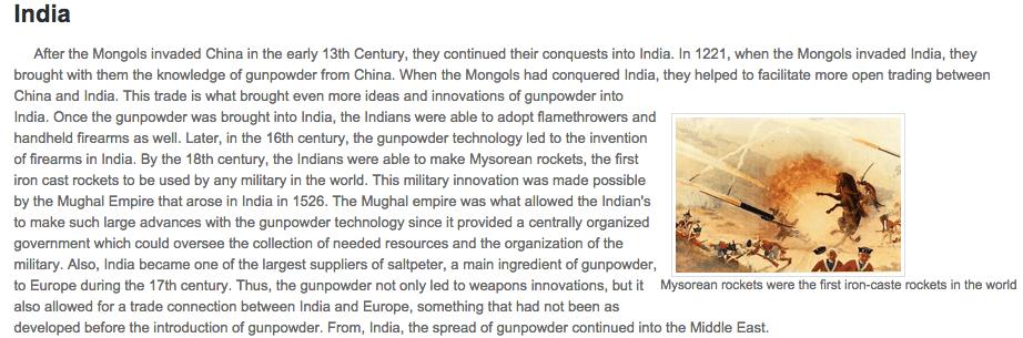 introduction of gunpowder in india