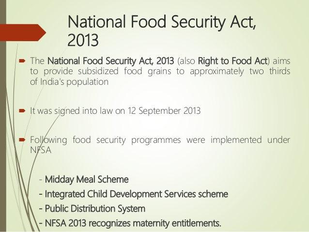 essay on food security in