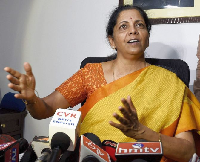 Nirmala Sitharaman addresses the media