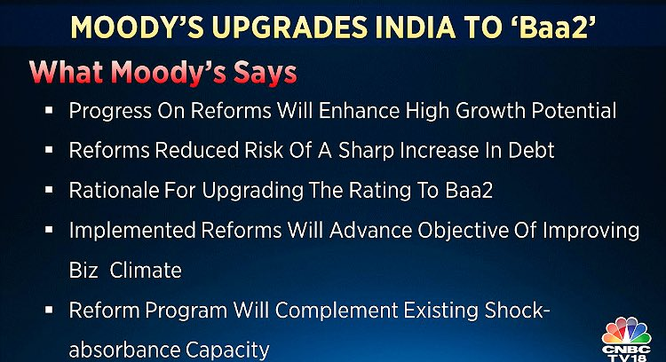 Timely recognition: on the Moody's upgrade