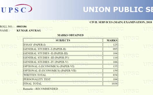 Kumar Anurag Rank 48 IAS topper UPSC