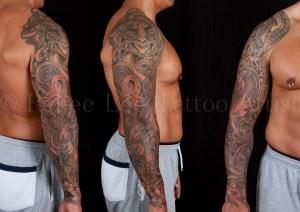 Ta-Moko-Sleeve-Tattoo