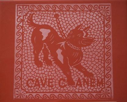 Cave Canem-Punainen Kaakeli