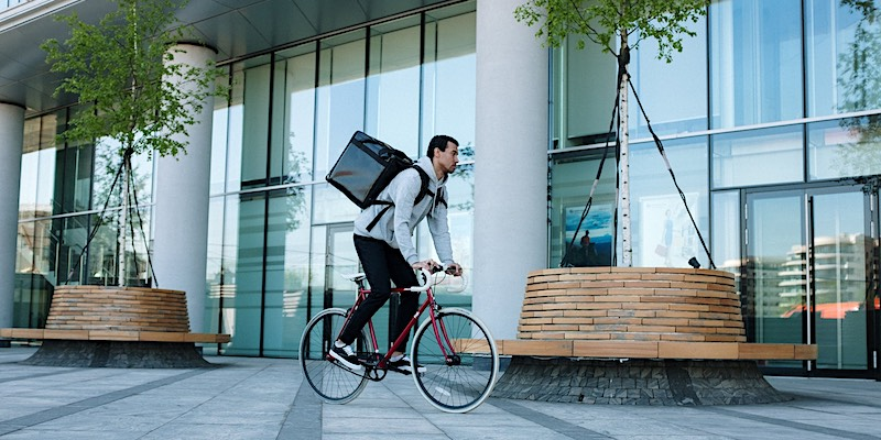 delivery bicycle for sustainabler impact