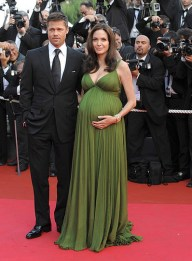 "Actors Brad Pitt and Angelina Jolie attend the ""Kung Fu Panda"" p"