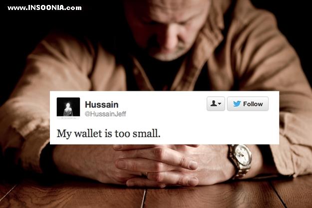 minha carteira esta muito pequena