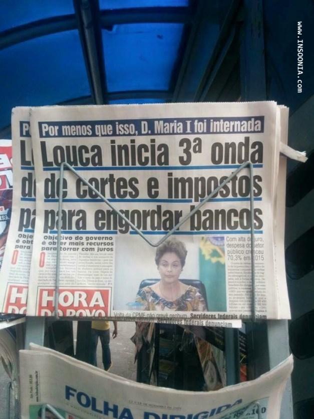 jornal chama Dilma de Louca