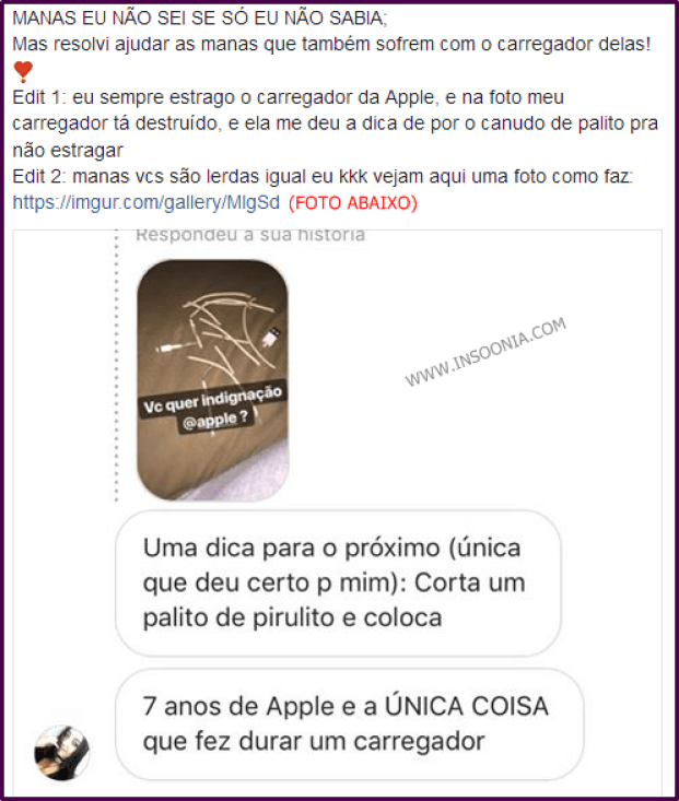carregador da Apple
