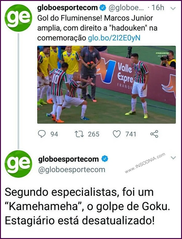 Estagiário do Globo Esporte