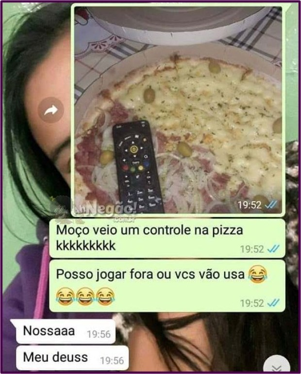 controle na pizza