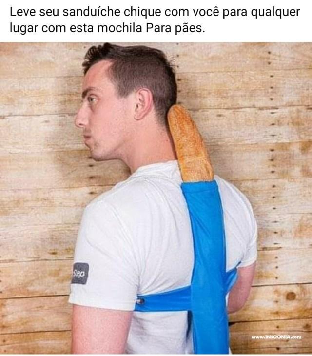 mochila para pães