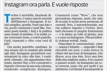 Instagram cambia e forse twitter muore.
