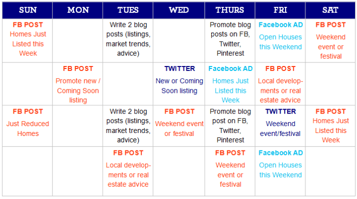 10 tips to write a remarkable social media marketing plan for Social media posting calendar template
