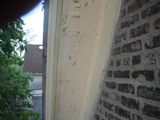 Exterior Trim Has Severly Ling Paint Possible Lead Hazard Oak Lawn Home