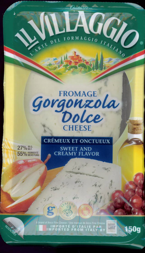 Il Villaggio brand Gorgonzola Dolce Cheese - Sweet and Creamy Flavor