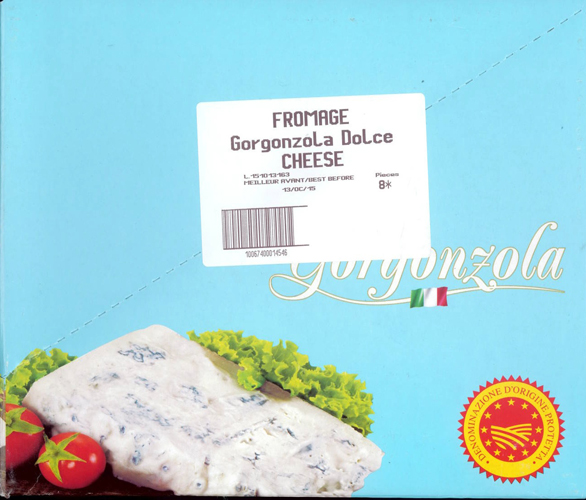 Gorgonzola Dolce Cheese - Best Before date 13 october 15