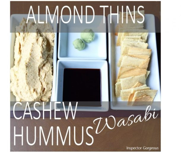 Crunch Time: Crispy Almond Thins & Cashew Wasabi Hummus