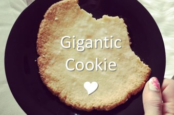 5 Ingredients for 1 Gigantic Almond Cookie