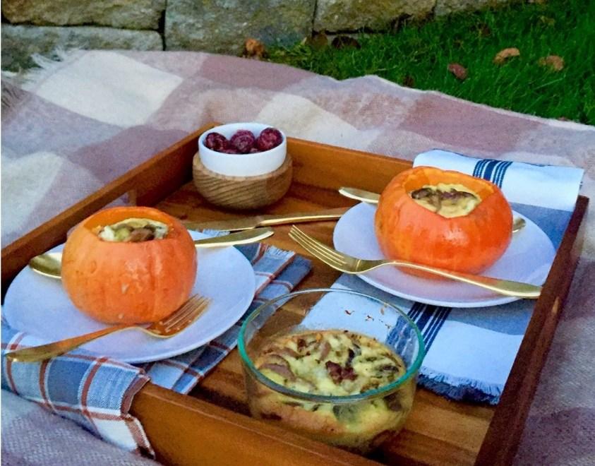 Quiche in a Pumpkin