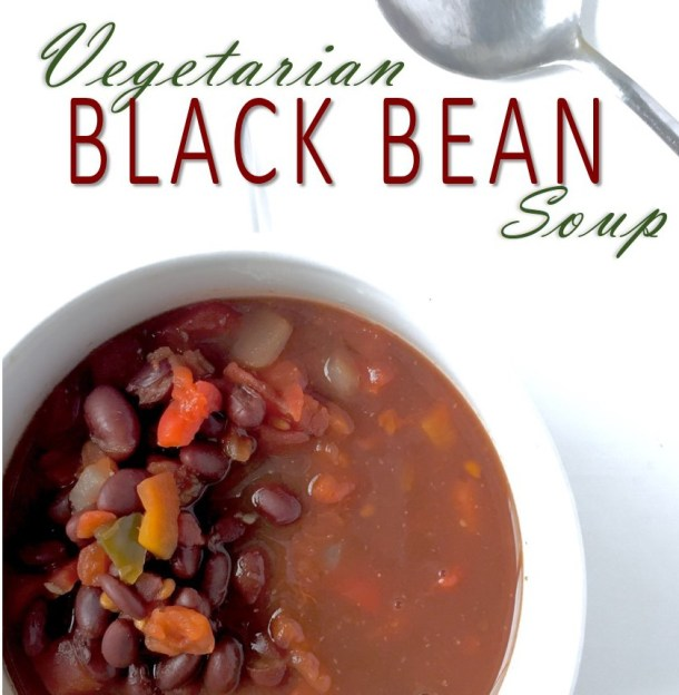 Emotional Eating Isn't A Sin: Vegetarian Black Bean Soup