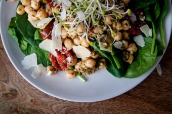 The Easiest Chickpea Pesto Salad You'll Ever Want or Need in Life