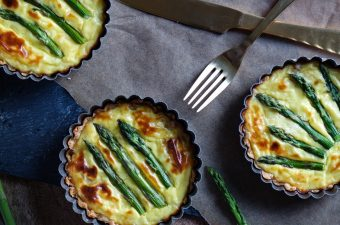 When Two Cheeses Are Not Enough! 🧀 Three Cheese Asparagus Mini Tarts!