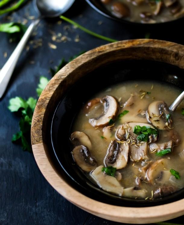 Hearty Portobello Mushroom Soup