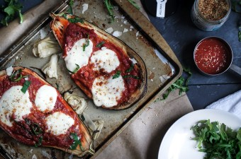 Is That An Eggplant In Your Pocket Or Are You Just Happy It's Dinner: Stuffed Eggplant with Fresh Mozzarella