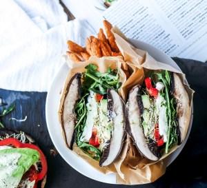Portabella Mushroom Caps as Burger Buns!-1
