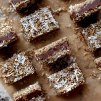 No Bake Vegan Chocolate Silk Coconut Crunch Bars