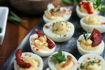 Decked Out Deviled Egg Bar!