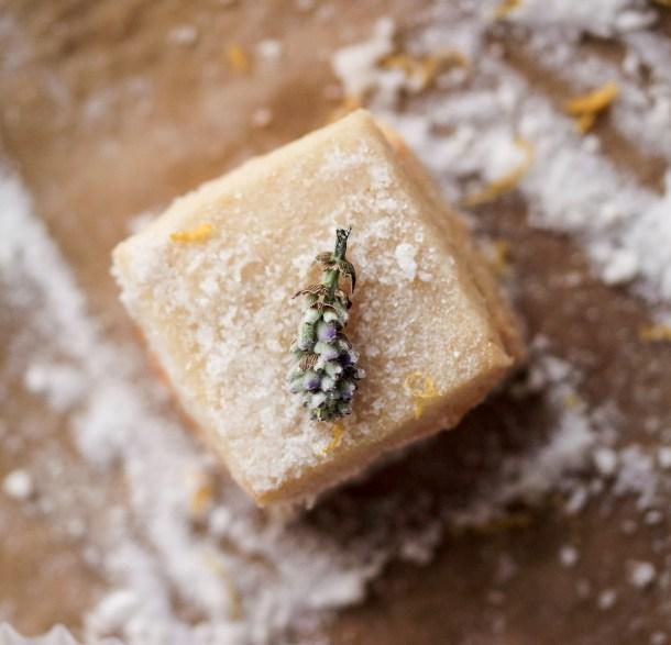Keto Lavender Shortbread with Lemon Sugar