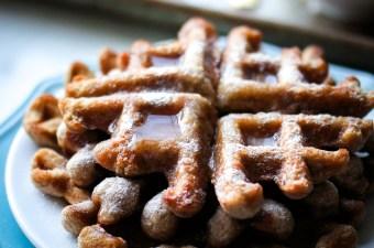 Crispy Almond Butter Waffles