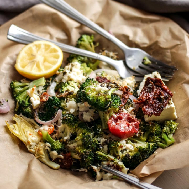 Smothered Greek Broccoli with Roasted Lemon