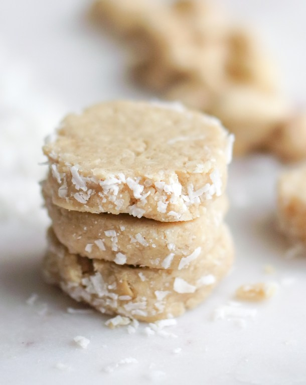 Three Ingredient No Bake Coconut Cashew Cookies